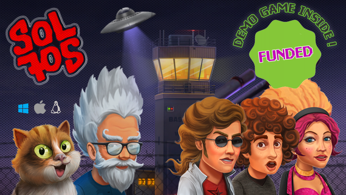 Sol705 is a hilarious graphic adventure that brings back all the good stuff from the '90s point and click classics with rock attitude!
