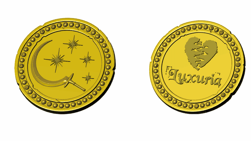 Project image for Seven deadly sins coin series - Coin #1 - Lust
