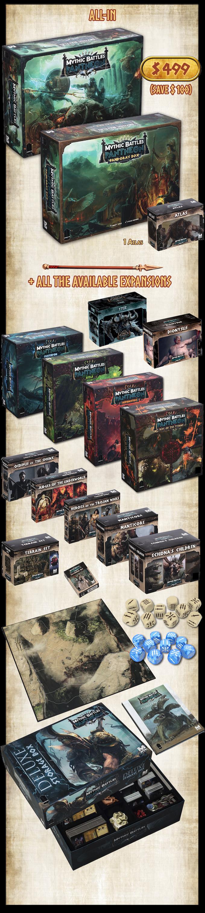 Mythic Battles: Pantheon 1 5 by Monolith Board Games LLC