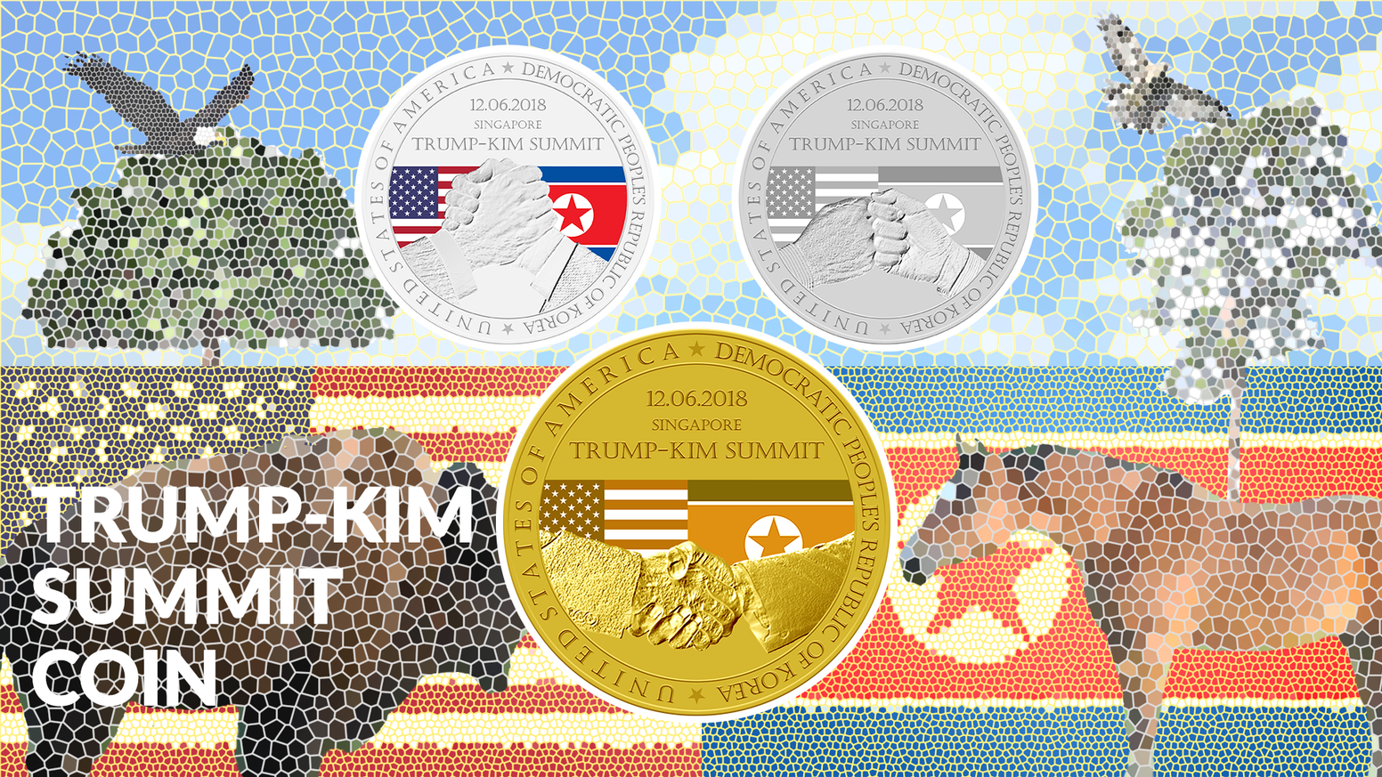 Image result for singapore summit commemorative coin