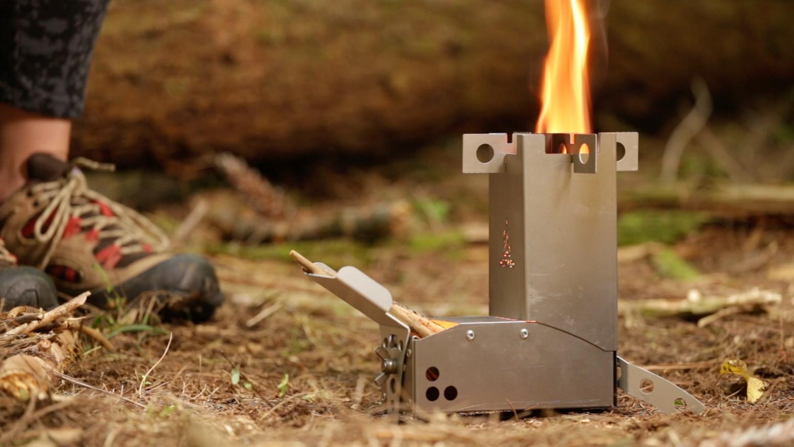 Hot Ash Mini Wood Burning Rocket Stove By Hot Ash Kickstarter