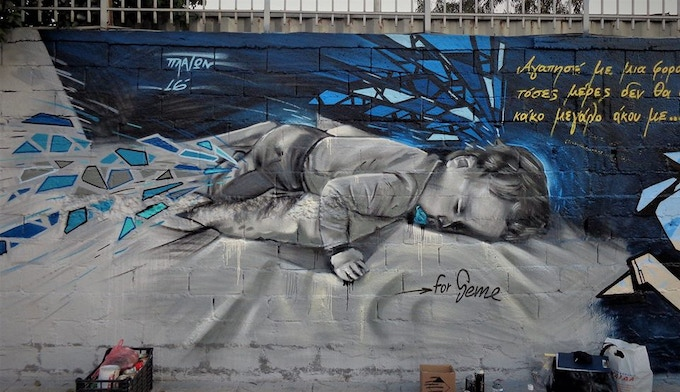 Mural - Baby Boy Sleeping