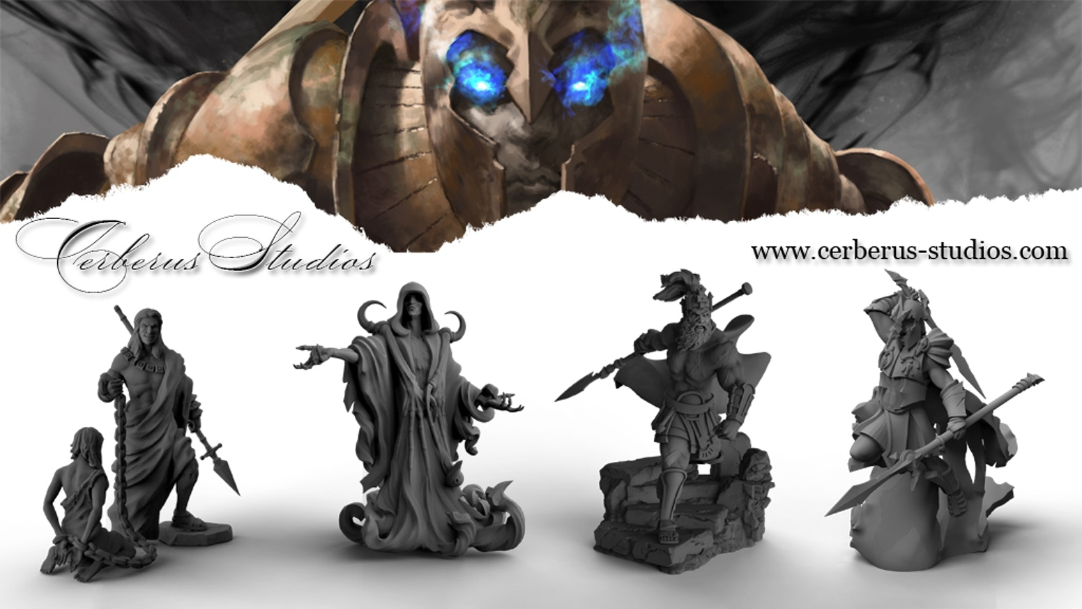 Cerberus Studios - 32mm High Quality Resin Fantasy Miniatures. A new world and characters to explore.