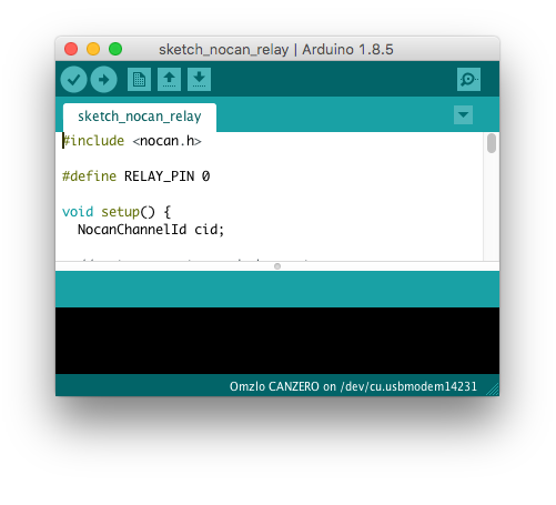 NoCAN in the Arduino IDE