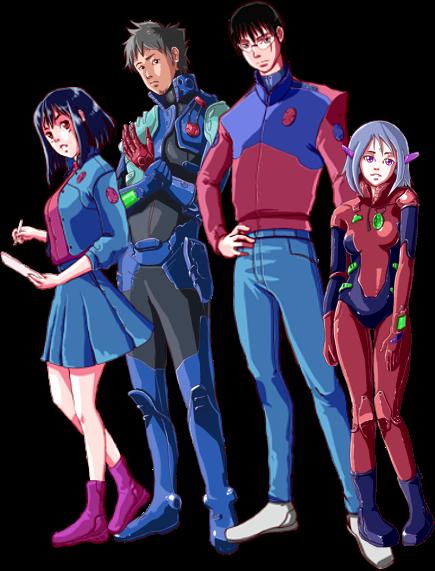 Yuri, Zarak, Blade and Aya