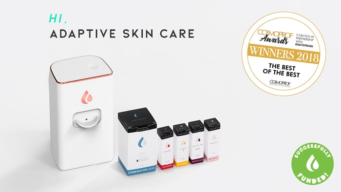 Create your perfect custom skin care at home, in less than 3 seconds. The first skin care that changes with you.