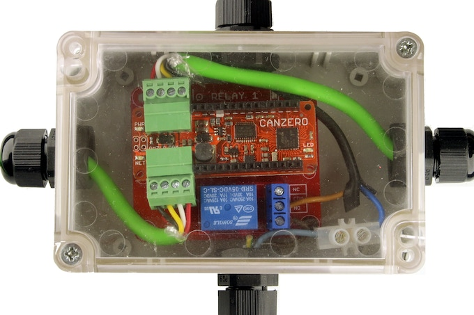 CANZERO connected to relay