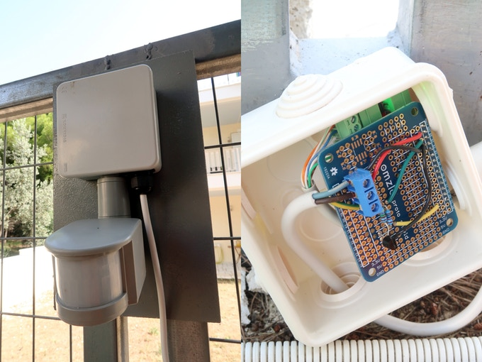 CANZERO connected to PIR sensor