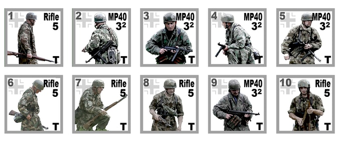 New German Paratrooper Counters