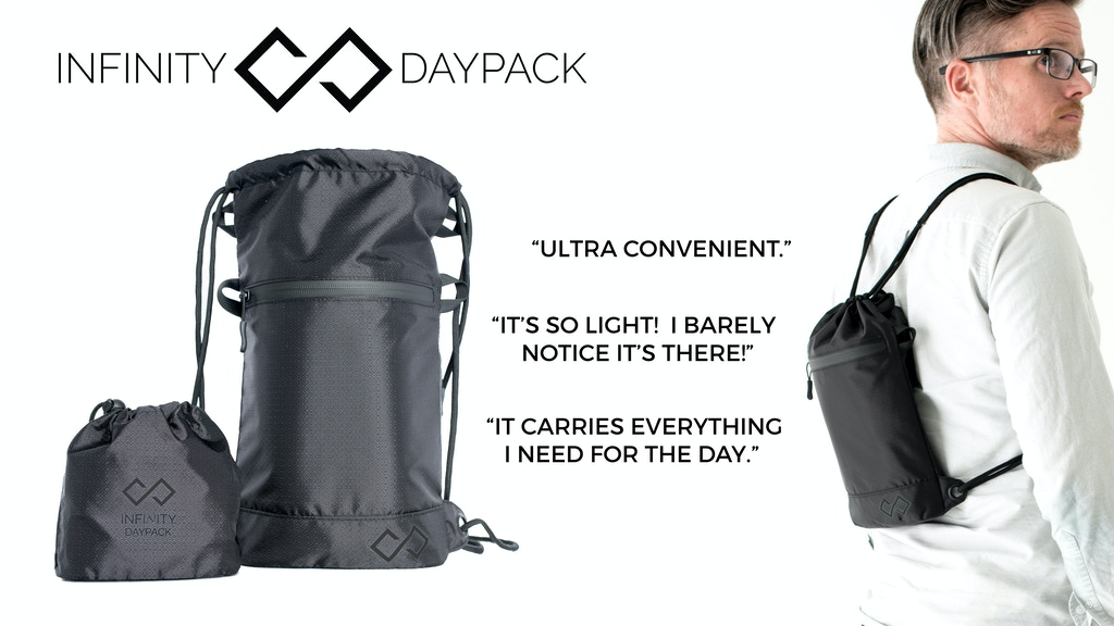 Infinity Daypack - A High Quality Mini Cinch Sack project video thumbnail