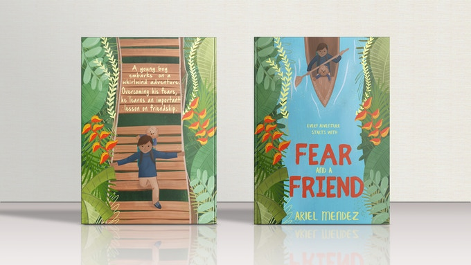 FEAR AND A FRIEND Book Cover Mockup