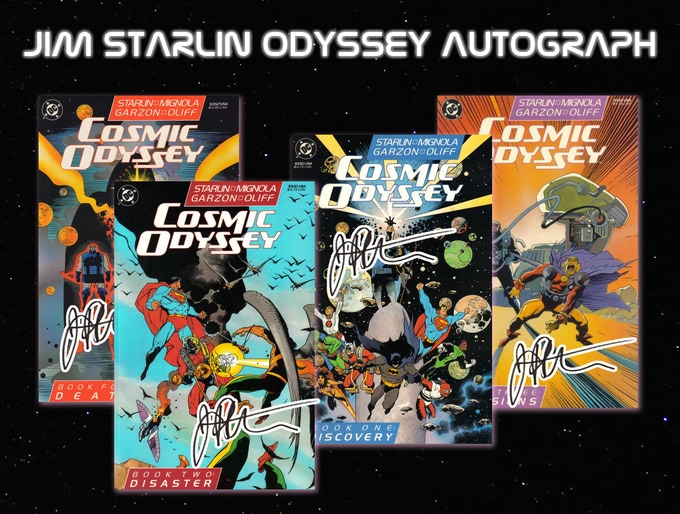 Cosmic Odyssey #1-#4 Signed by Jim Starlin