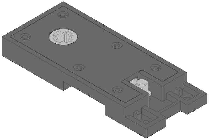 Underside of Switch Stand Mechanism