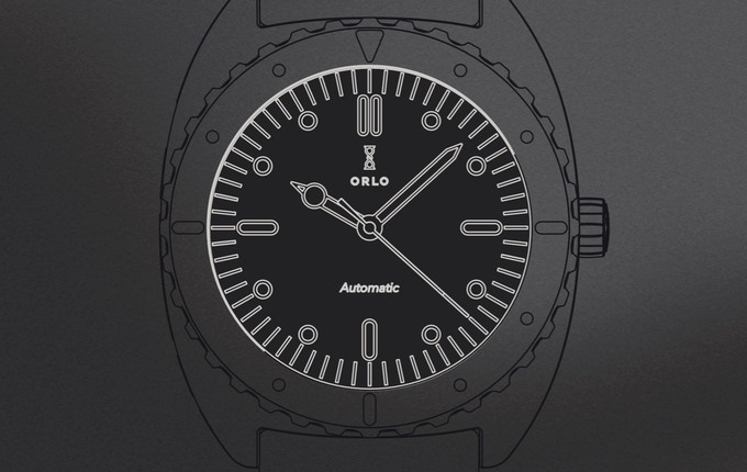Color illustration of black dial
