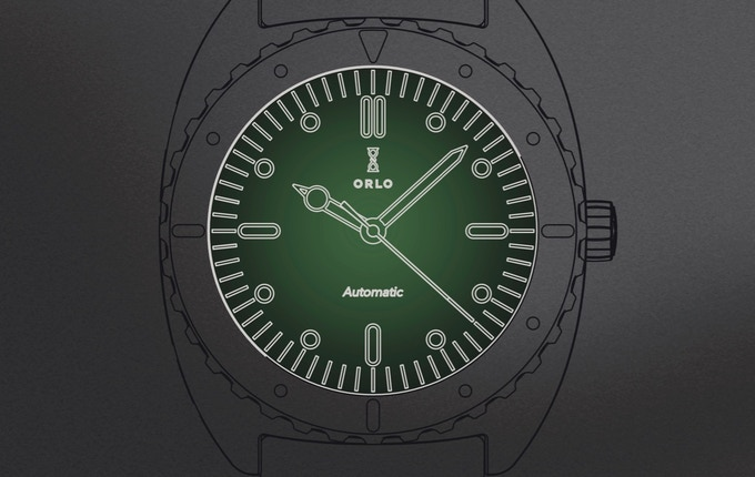Color illustration of green dial