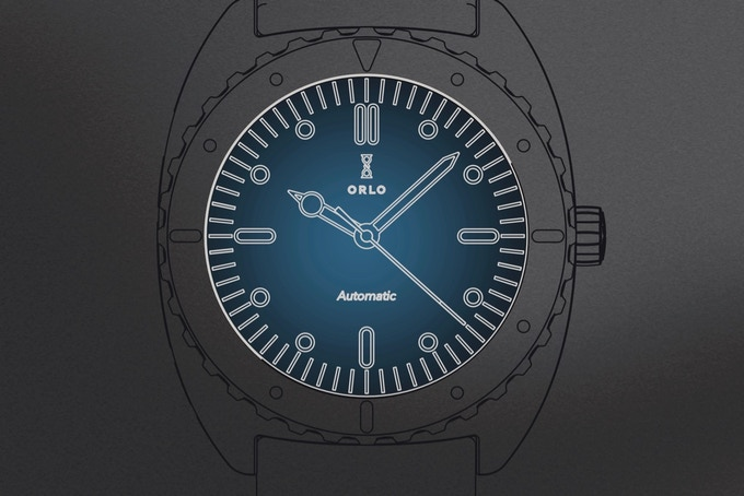 Color illustration of blue dial