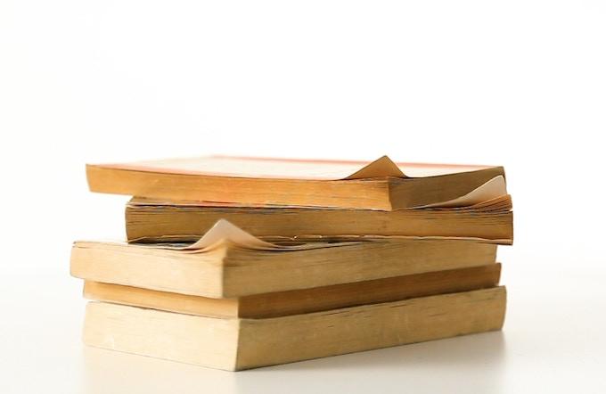Books with 'dog-eared' corners