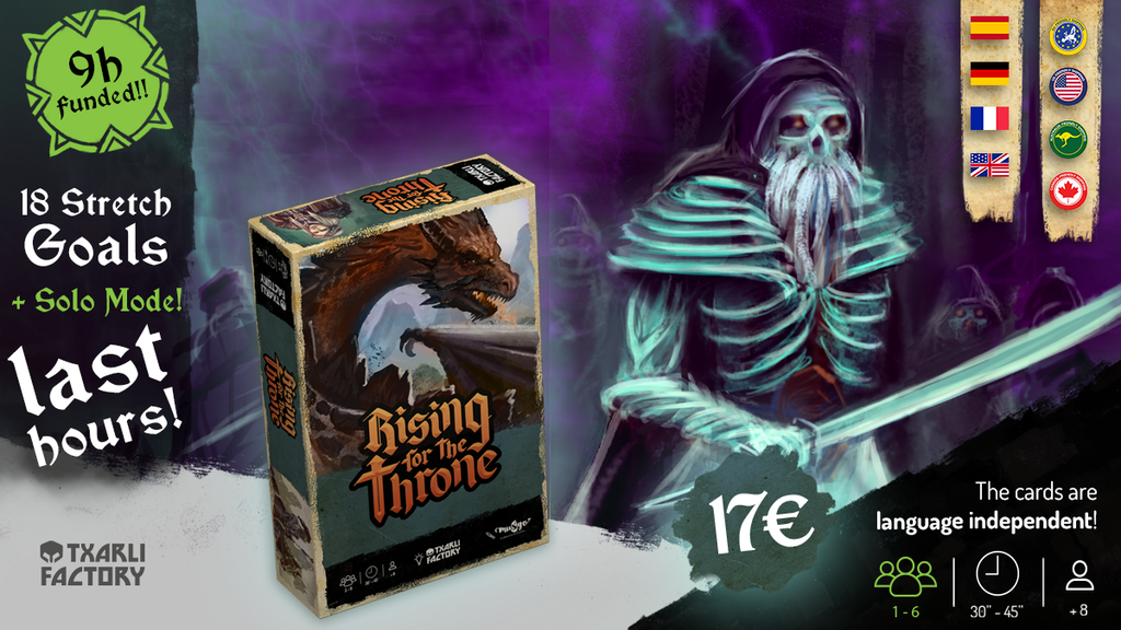 Rising for the Throne. The Boardgame. project video thumbnail