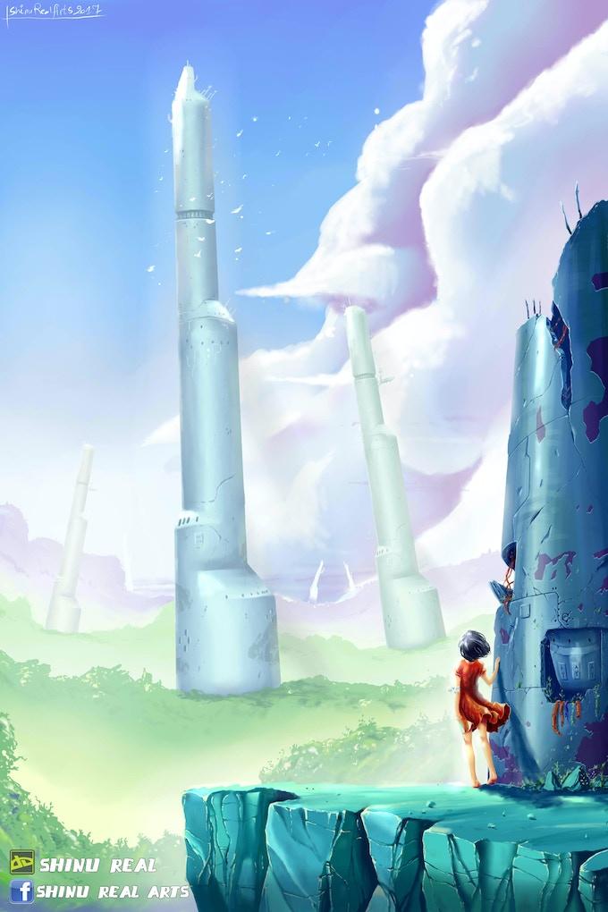 """A world in ruins, """"Accessia"""""""