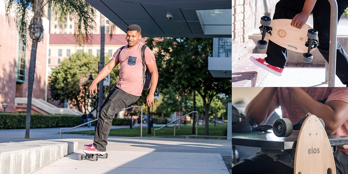 Perfect for college campuses.  Turn heads as you zip around in style, then dock your board next to you for easy storage.