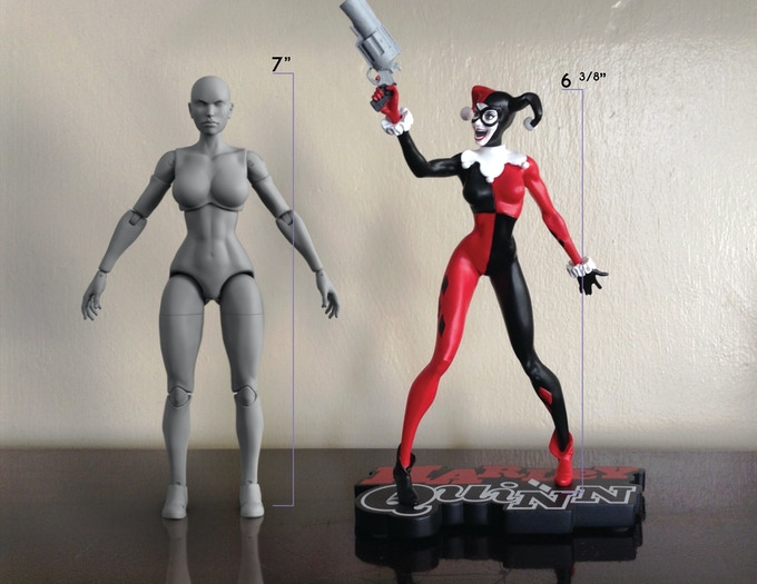 Athletic body & Harley B&W 1/10th Statue