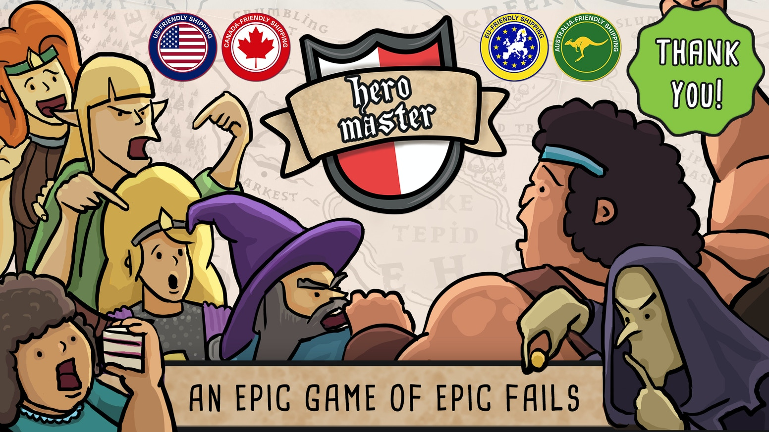 Hero Master An Epic Game Of Epic Fails The Board Game By Jamie