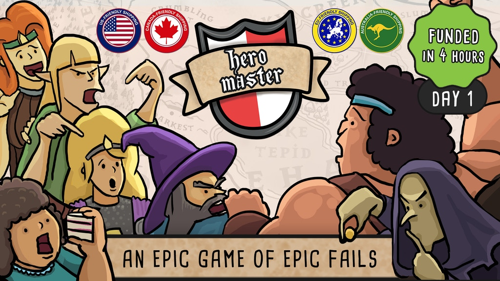 Hero Master: An Epic Game of Epic Fails - The Board Game