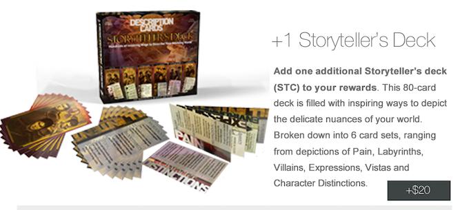 For Full Details on the Storyteller's Decks, Please Click Here