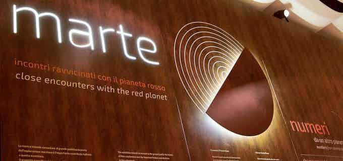 """Exhibition: """"Marte - incontri ravvicinati con il Pianeta rosso"""""""