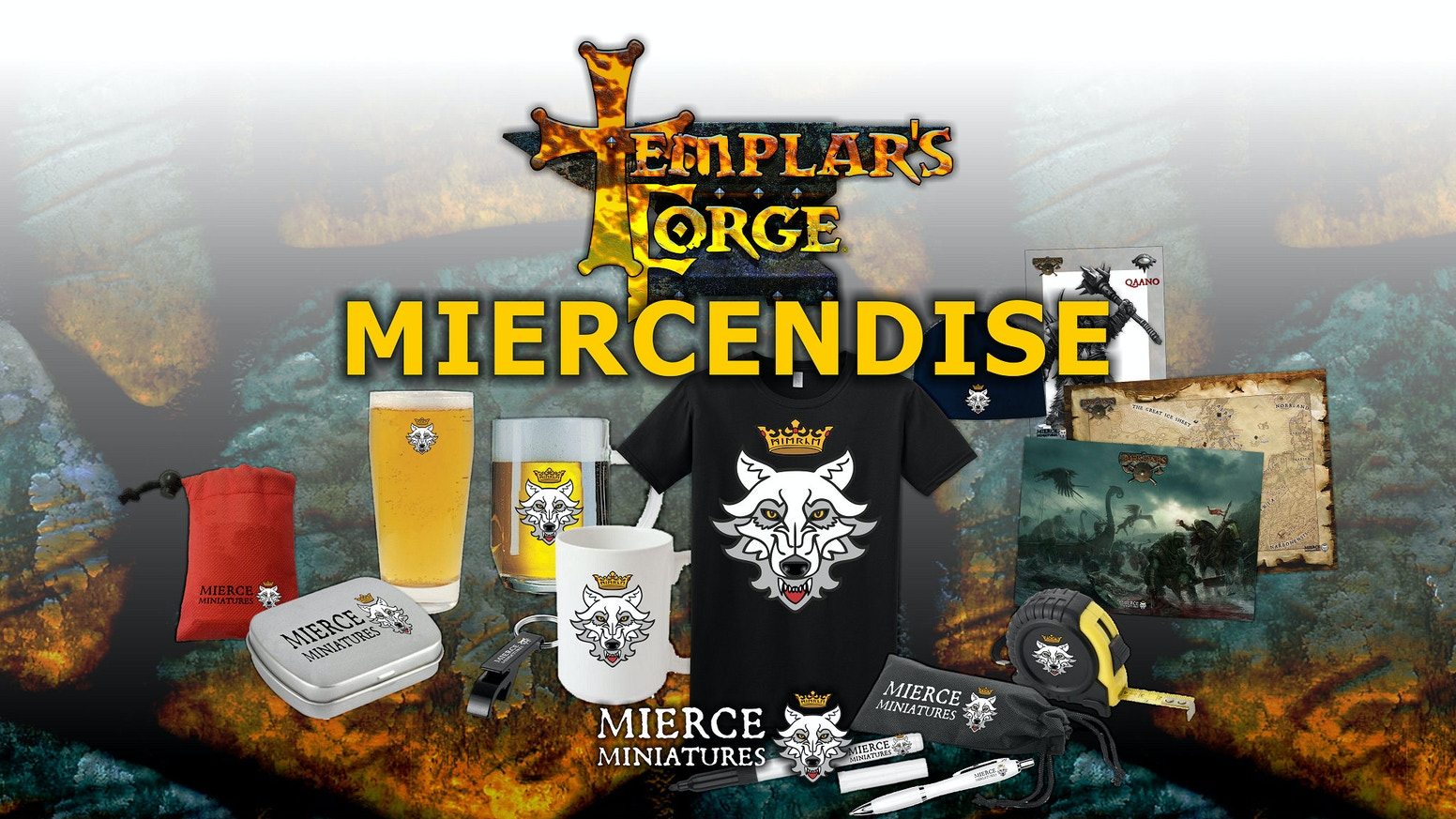 Templar's Forge provides the discerning gamer with a myriad of gaming aids, hobby items and miercendise to spread the Darklands word!
