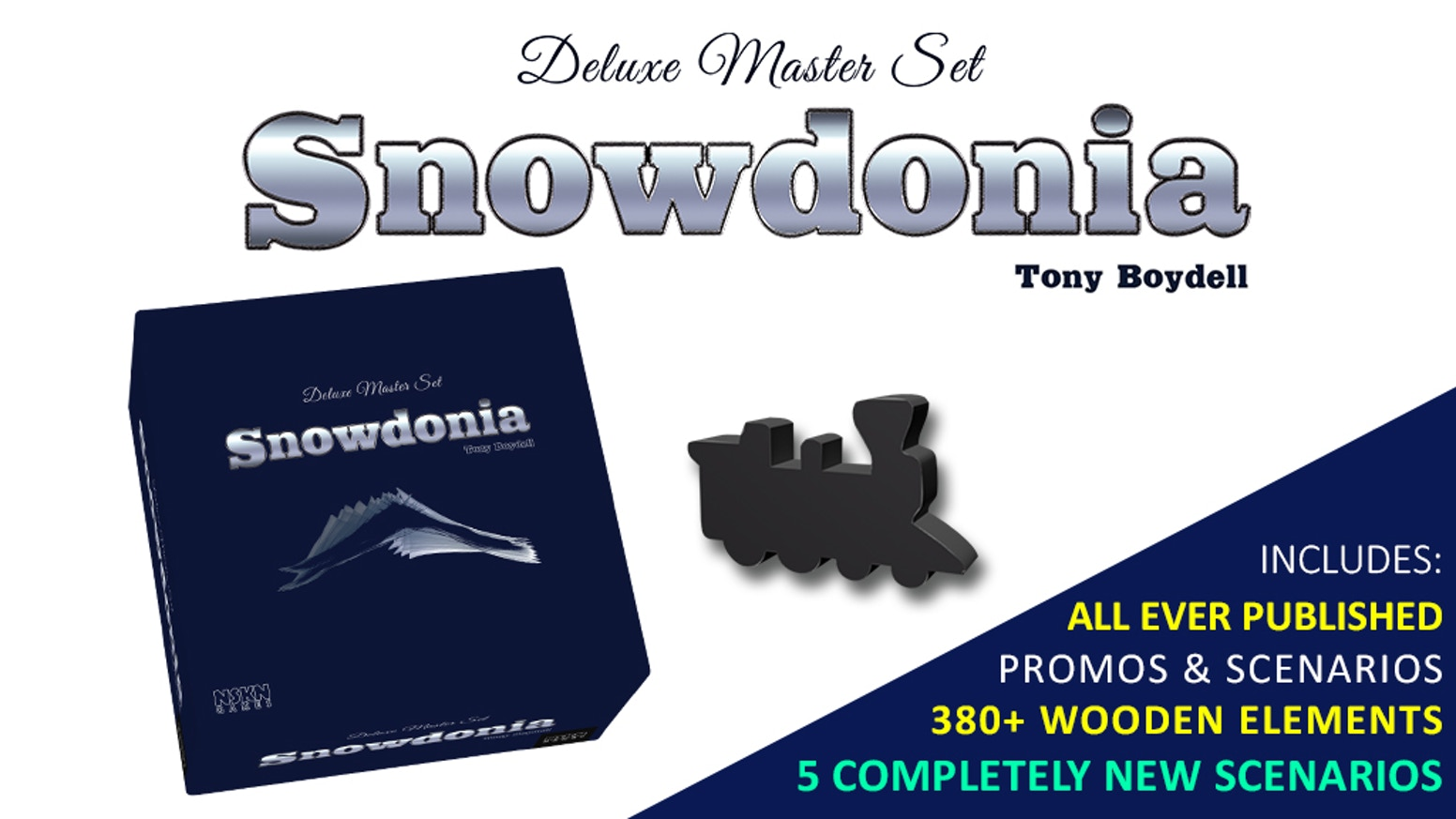 Snowdonia - a lovingly crafted game of strategy, history, and trains - now in an updated and upgraded form of a Deluxe Master Set.