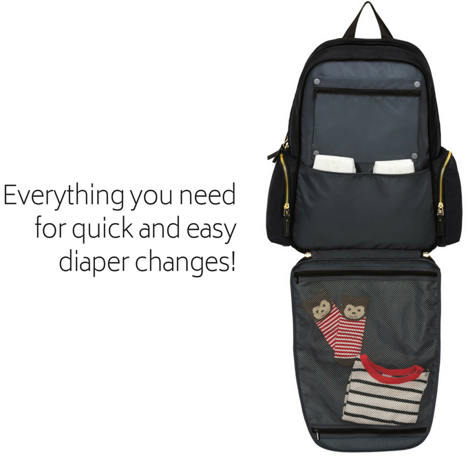Diaper changes are a breeze with The Mommy Bag!