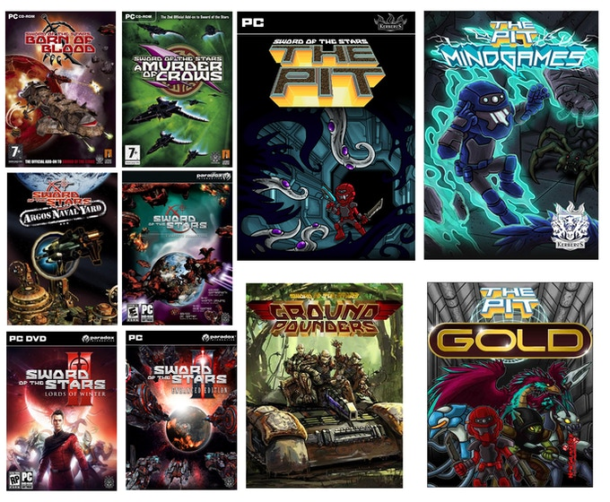 Just a few of the fine games we've made for PC gamers over the years!