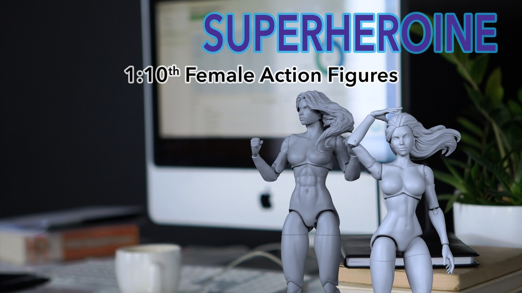 "Superheroine 1:10th Scale (7"" inch) Action Figure Blanks project video thumbnail"
