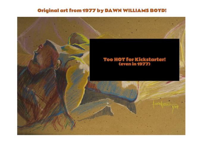 Untitled, 14.5 h x 23.5 w inches, colored pencil on cardboard, by Dawn Williams Boyd