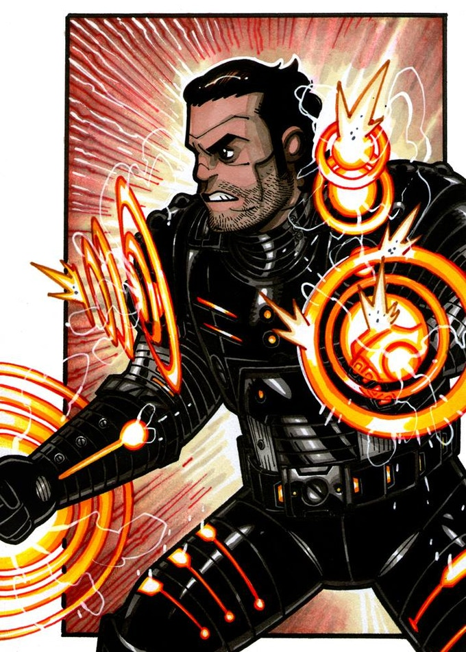 Shatterwave, an Iconic Villain and Pulsewave's brother! Art by Nicolas Giacondino
