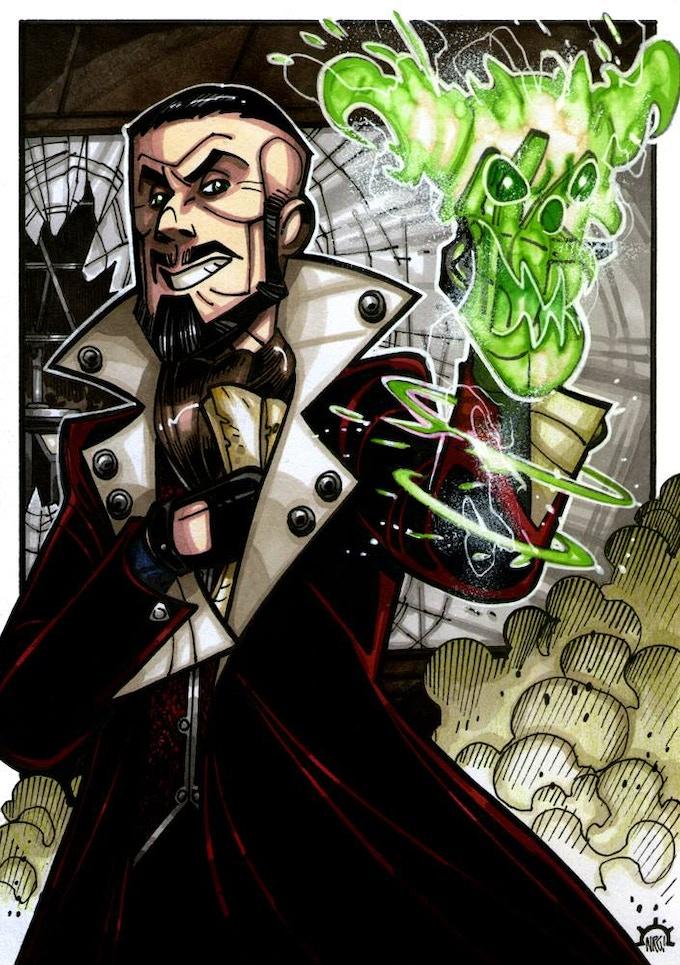 Montebank, an Iconic Occult Villain! Art by Nicolas Giacondino
