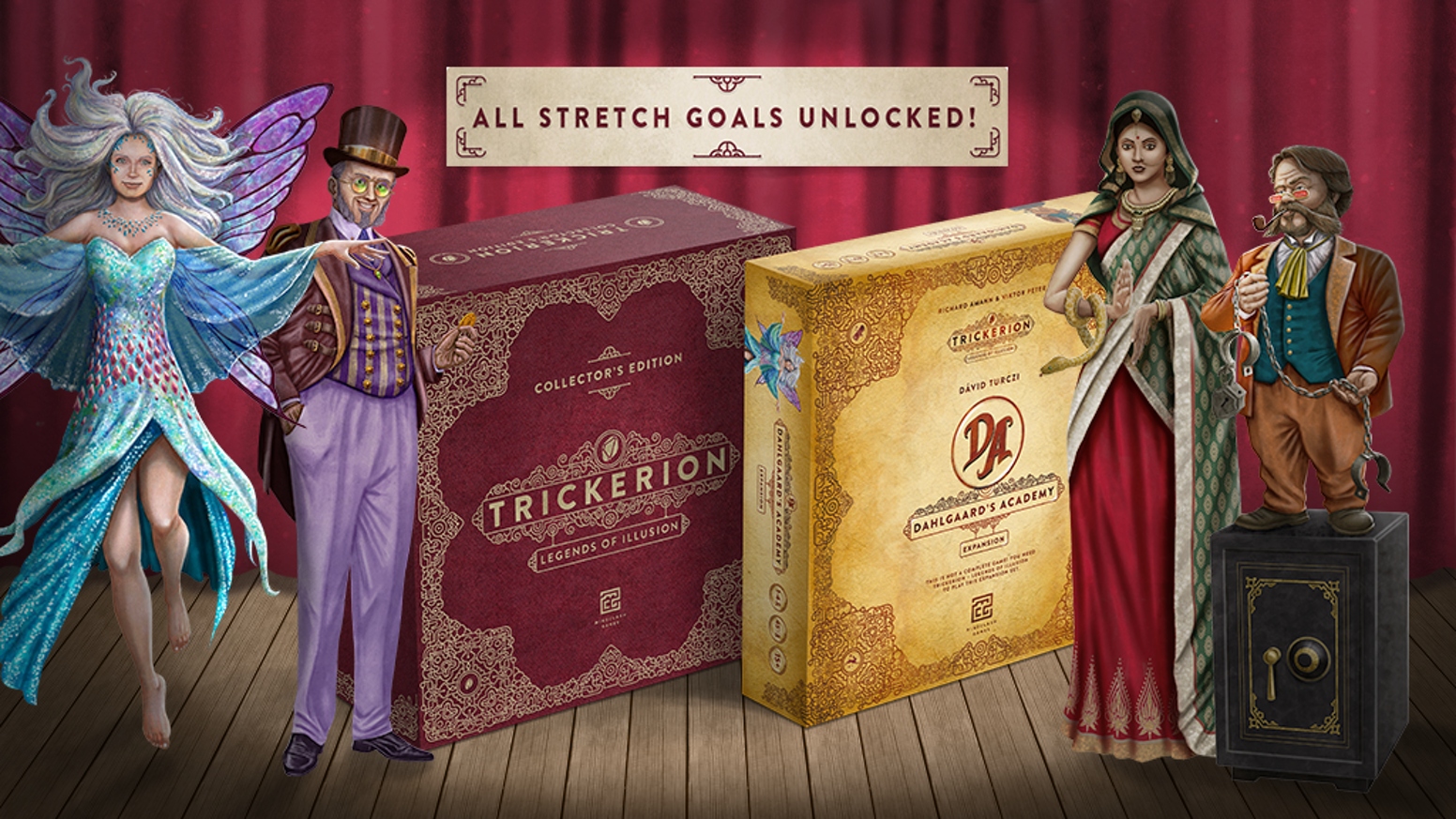 Become a legendary illusionist in Trickerion's first major expansion, also available in a Kickstarter-only Collector's Edition
