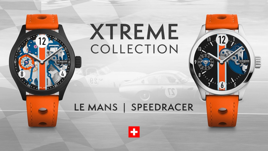 SCHNEIDER&CO LE MANS & SPEEDRACER ALUMINUM SWISS WATCHES project video thumbnail