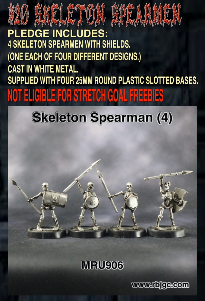 $20 SKELETON SPEARMEN PLEDGE