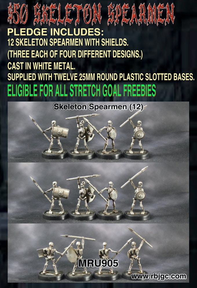$50 SKELETON SPEARMEN PLEDGE