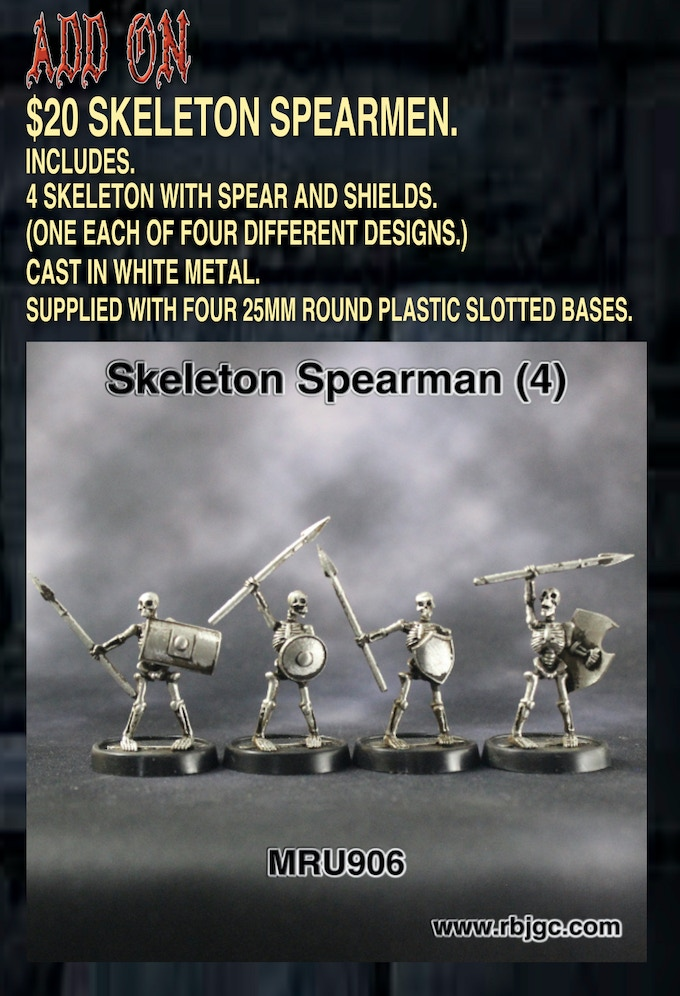 $20 SKELETON SPEARMEN ADD ON