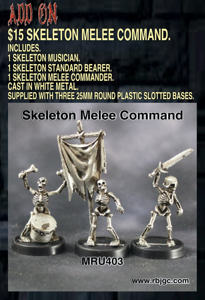 $15 SKELETON COMMAND ADD ON
