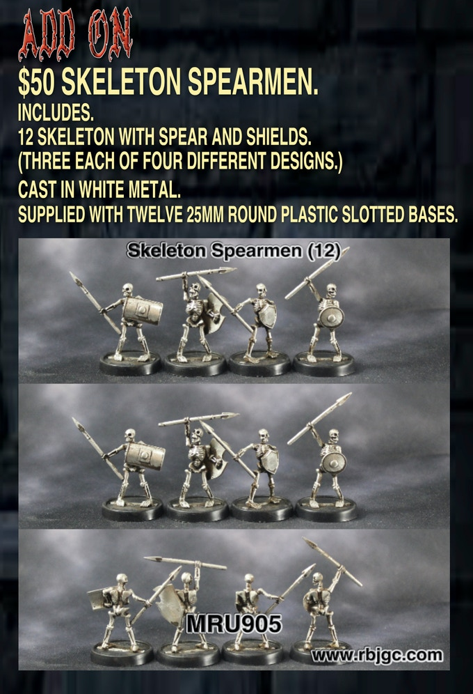 $50 SKELETON SPEARMEN ADD ON