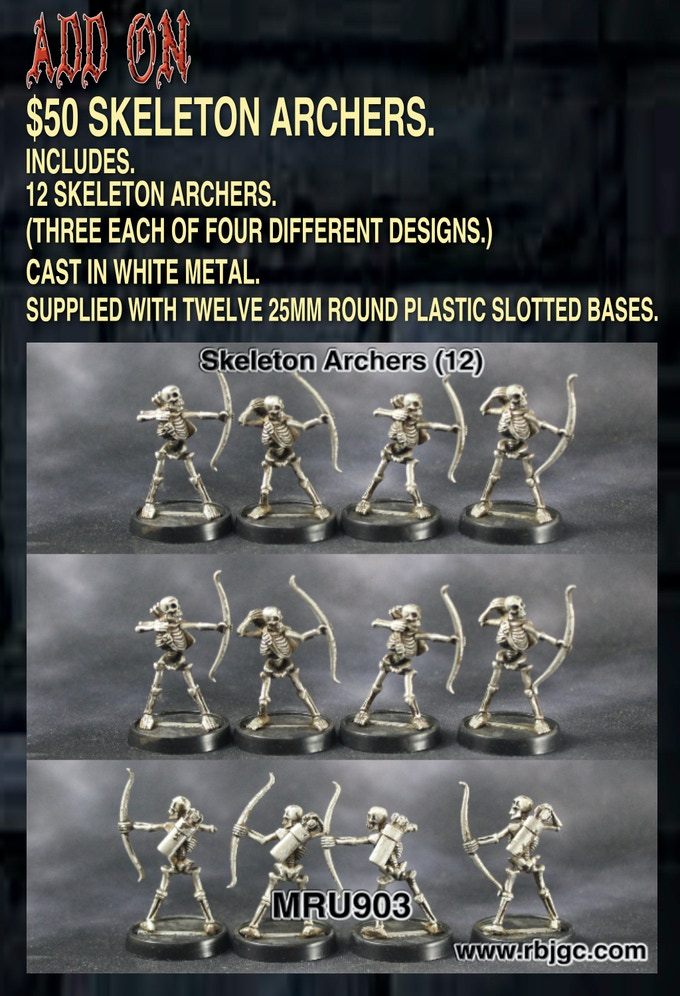 $50 SKELETON ARCHER ADD ON