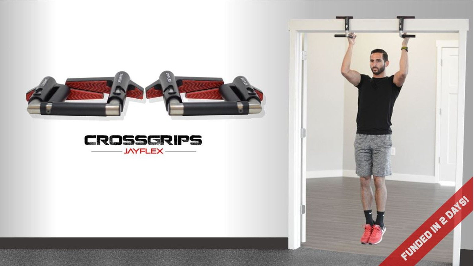 "CrossGrips by Jayflex are the ""Swiss Army Knife"" of exercise equipment. A compact multi-gym built for home and travel."