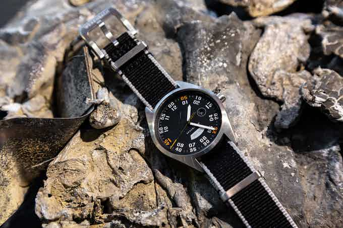 The Sport B42 customised with a textile Nato strap