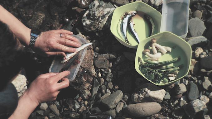 Jun cutting fish