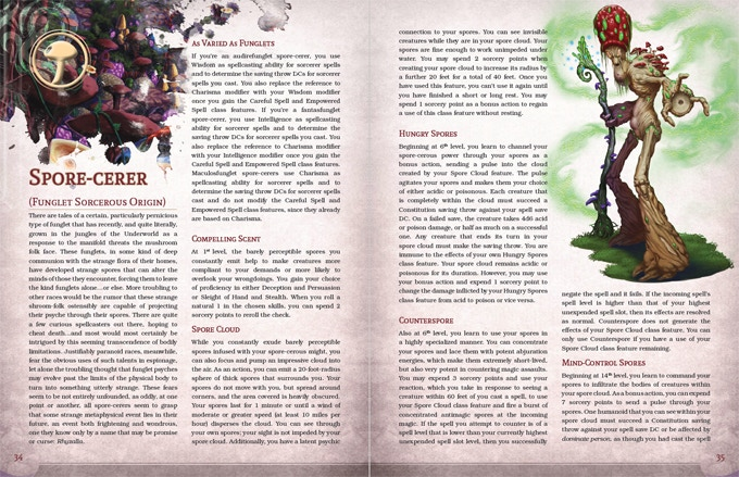 Example of 5th Edition Layout.