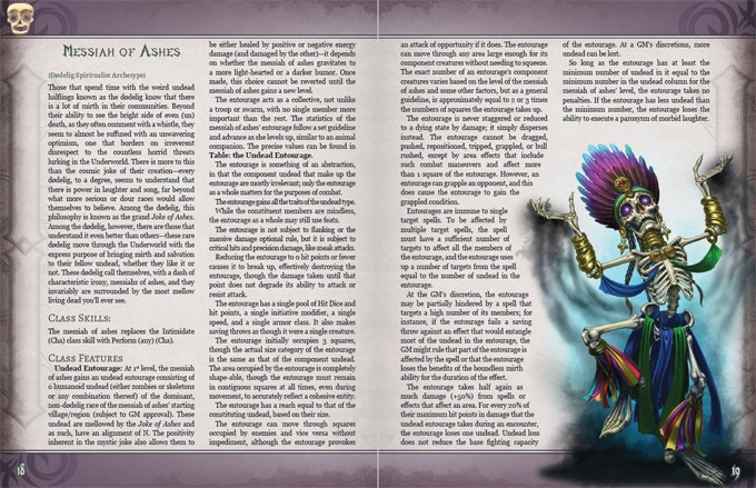 Example of Pathfinder RPG Layout.